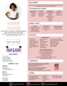 Kamryn's Media Kit